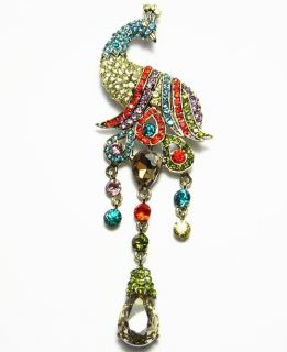Fashion Brooch Pin Pendant Austrian Rhinestone Crystal Multi