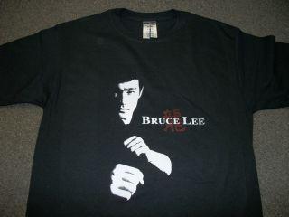 Bruce Lee Tshirt Little Dragon Pheonix Karate Kid Martial Arts Fight