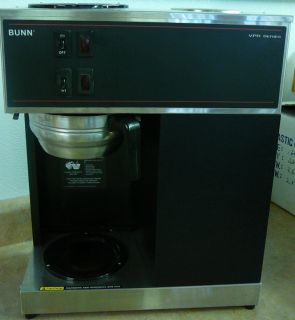 BUNN VPR SERIES COMMERCIAL POUROVER TWO BURNER COFFEE BREWER METAL