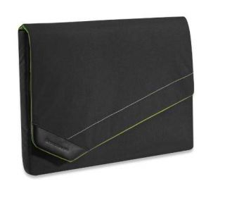 Brenthaven Black Green Notebook MacBook Laptop Sleeve Case Bag Cover