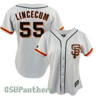 2012 Tim Lincecum San Francisco Giants Alternate Road Jersey Womens