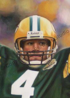 Brett Favre Green Bay Packers Original NFL Oil Painting