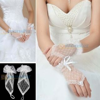 New Beauty Wedding Dress Accessories Lace Fingerless Bridal Gloves