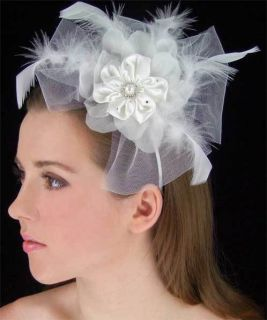 Unique Affordable Satin Tulle Wedding Bridal Headband