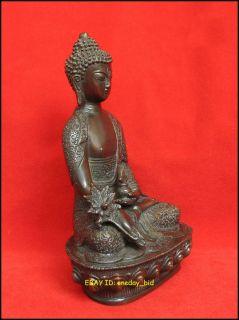 Chinese Bronze Medicine Buddha Sakyamuni Statue 8High