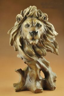 Large Resin Lion Head Bust Statue 11High