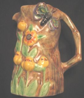 radford pottery art deco butterfly ware jug c1930 time left