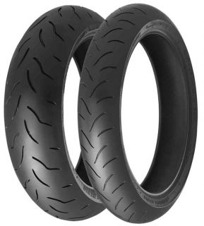 New Bridgestone BT016 Motorcycle Tires Sz Front 120 70 R17 Rear 180 55