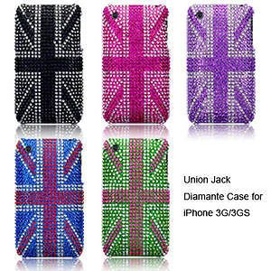 Case Cover for iPhone 3GS Black, Pink, Purple, Blue, Green Union Jack