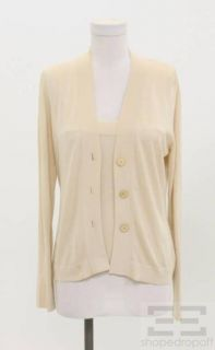 Brunello Cucinelli Beige Two Piece Twinset Size Medium