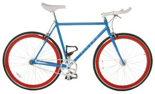 Blue 50cm Vilano EDGE Chromoly Fixed Gear Bike Fixie Single Speed