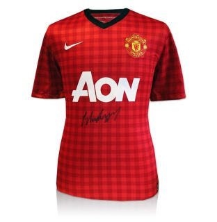 Wayne Rooney Front Signed Shirt   2012/2013 Manchester United Home