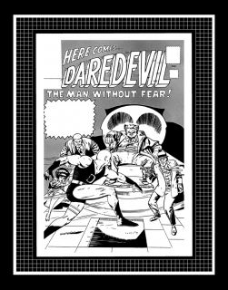 Jack Kirby Daredevil #3 Rare Production Art Cover