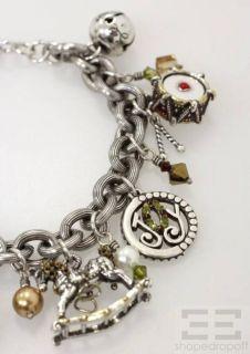 Brighton Silver 7pc Christmas Holiday Charm Bracelet