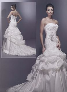 Wedding Dress Bridal Gown Private Label by G 1448 Diomond White Silvr