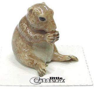 Little Critterz Bark Prairie Dog Miniature Figurine Porcelain Wee