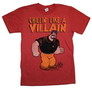 Popeye Brutus Bluto Chillin Like A Villain Vintage Style Cartoon T