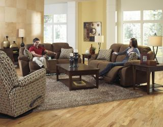 Catnapper Bryson Power Reclining Sofa with Reclining Console Loveseat