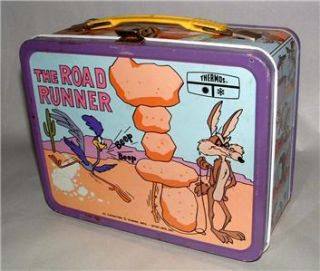 1960s WARNER BROS ROAD RUNNER LUNCH BOX & thermos BEEP BEEP