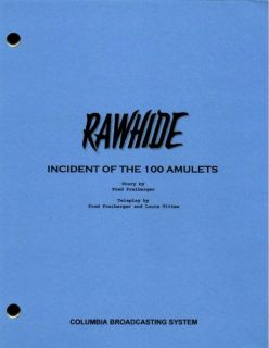 Rawhide Set of 5 Different TV Scripts Clint Eastwood Eric Fleming