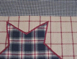 Tan Plaid Black Tan Check Bingham Star Woven Place Mat 12x18