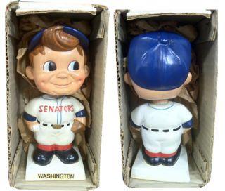 1960s Washington Senators Vintage White Base Nodder Bobble Head Doll