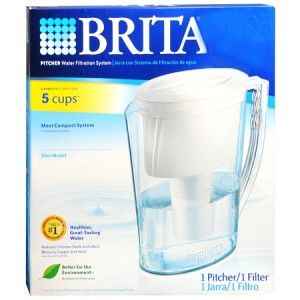 Brita Slim 42629 Water Filtration Purifier Pitcher with Filter Brand