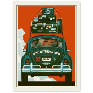 Dave Matthews Band Poster 2012 Bristow VA Beetle Bug 41 Leroi Numbered