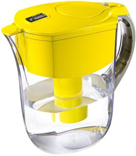 Brita Yellow Pitcher Water Filtration System w 1 Filter 10 Cups