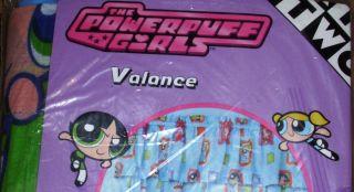 PowerPuff Girls Window Valance Buttercup Blossom Bubbles New