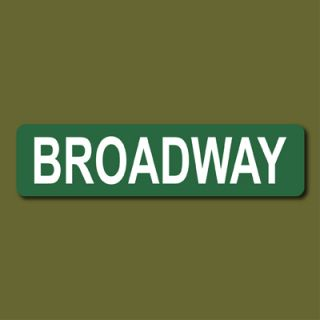 Broadway 6x24 Metal Street Sign Theatre New York City