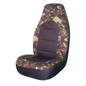 Camouflage Universal Set Truck Auto Bucket Seat Cover 2 Pack Camo