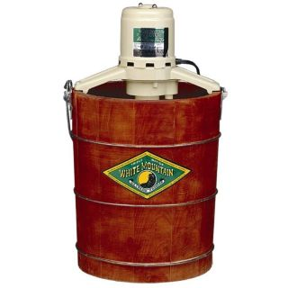 WHITE MOUNTAIN 6 QUART ELECTRIC HOMEMADE ICE CREAM MAKER PINE WOOD