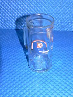 NFL Denver Broncos 2 Bar Helmet Logo Fisher Peanuts Handled Beer Mug