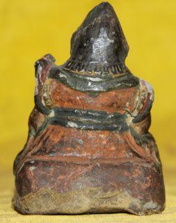 Antique Tibetan Clay TSA TSA Buddha Statue Sky King
