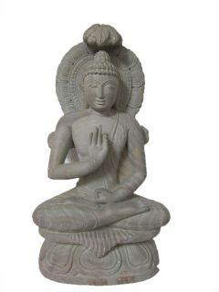 Buddha Stone Statue Garden Budha Hand Carved Sculpture Zen Buddha