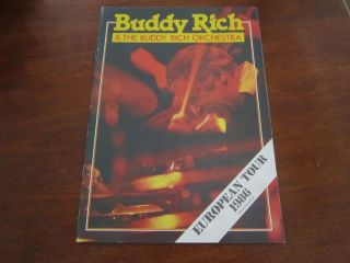 Buddy Rich Autograph  Live at Ronnie Scotts Original UK Tour Program