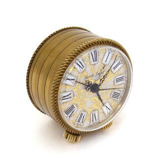 Amazing Bueche Girod Miniature Musical Alarm Clock Reuge Music Box Ø