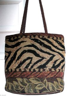 BUENO ANIMAL PRINT PURSE MEDIUM SHOULDER TOTE BAG PLUS LEOPARD COIN