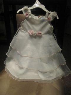 White Girls Dress Brooke Lindsay size 2T gorgeus super cute