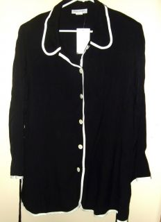 NWT Womens Meg Lauren Maternity Black White Blouse Shirt Sz XL TAMOMS