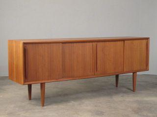 Vintage 1960s Danish Teak Buffet Sideboard Credenza
