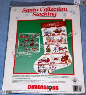 Wysocki SANTA COLLECTION Counted Cross Stitch Christmas Stocking Kit
