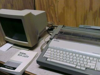 Brother Word Processor WP 3410 with Users Guide