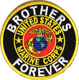United States Marine Corps Brothers Forever Iron on Patch