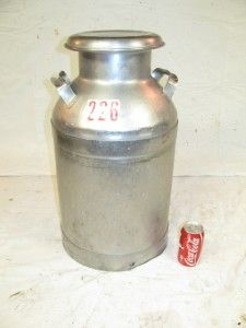 Old Vintage BUHL 40 Qt. Stainless Steel Cow Dairy 10 Gallon Milk Cream