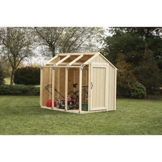 Yard Garage Storage Shed House Wooden Building Kit Tool Shelter