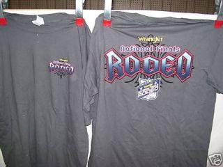 2005 NFR T shirt rodeo PRCA bull riding gear equipment PBR NEW