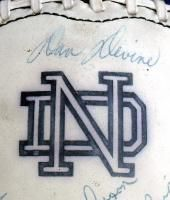 SIGNED BY (112) NOTRE DAME FOOTBALL MONTANA DEVINE BROWNER GOLIC FRY