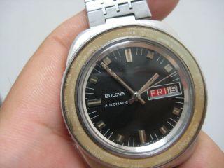 Vintage Bulova Worldtime Bezel Day Date Automatic Watch